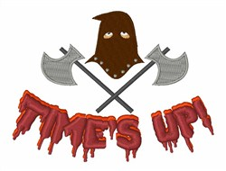 Times Up embroidery design