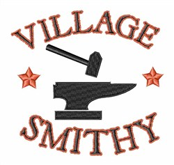 Village Smithy embroidery design