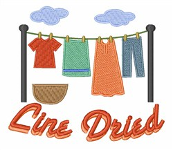 Line Dried embroidery design