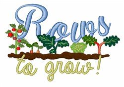 Rows To Grow embroidery design