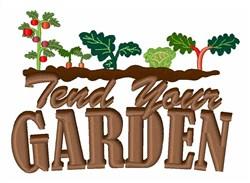 Tend Your Garden embroidery design