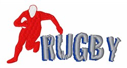 Rugby embroidery design