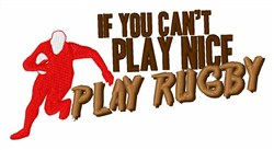 Play Rugby embroidery design