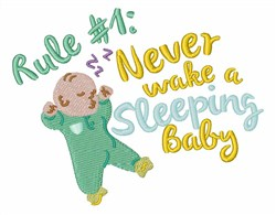 Never Wake Baby embroidery design