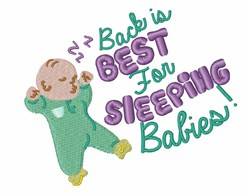 Back Sleeping Best embroidery design