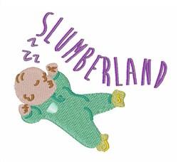 Slumberland embroidery design