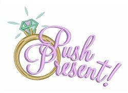 Push Present embroidery design
