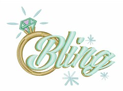 Bling Ring embroidery design