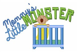 Mommys Monster embroidery design