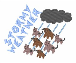 Stormy Weather embroidery design
