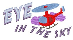 Eye In Sky embroidery design