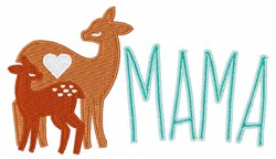 Mama Deer embroidery design