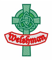 Welshman embroidery design