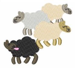 Black Sheep embroidery design