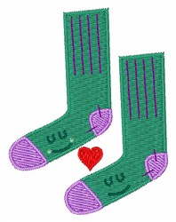 Love Socks embroidery design