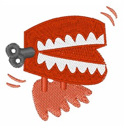Wind Up Teeth embroidery design