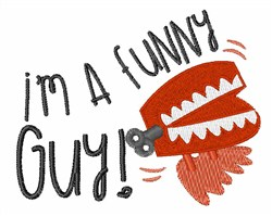A Funny Guy embroidery design