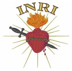 INRI embroidery design