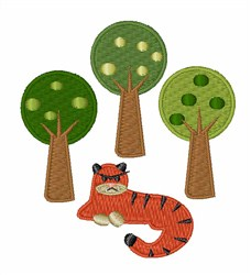 Tiger In Trees embroidery design