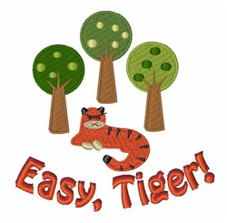 Easy Tiger embroidery design