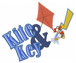 Kite & Key embroidery design