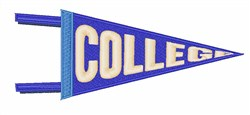 College Pennant embroidery design