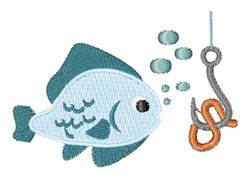 Fish & Hook embroidery design