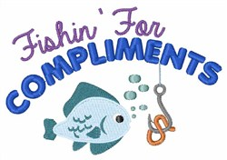Fishin For Compliments embroidery design