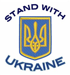 Stand With Ukraine embroidery design