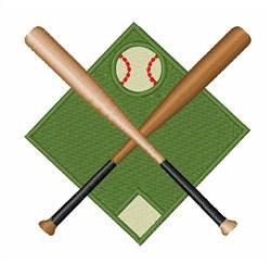 Baseball Diamond embroidery design
