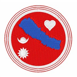 Nepal Flag embroidery design