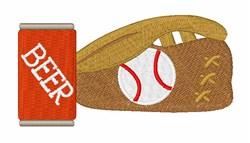 Baseball & Beer embroidery design
