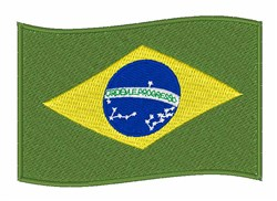 Flag Of Brazil embroidery design