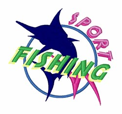Sport Fishing embroidery design
