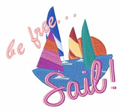 Be Free Sail embroidery design