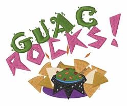 Guac Rocks embroidery design
