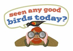 Seen Any Birds embroidery design