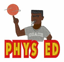 Phys Ed embroidery design