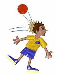Dodge Ball Boy embroidery design