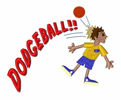 Dodgeball embroidery design