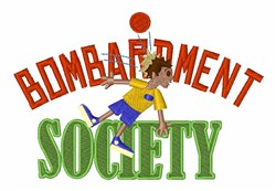 Bombardment Society embroidery design