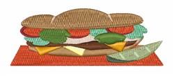 Submarine Sandwich embroidery design