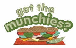 Got The Munchies embroidery design