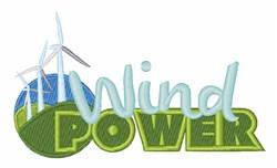 Wind Power embroidery design