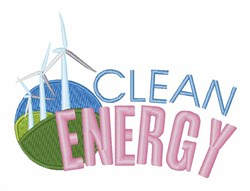 Clean Energy embroidery design