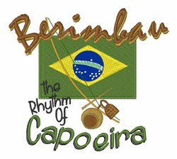 Rhythm Of Capoeira embroidery design