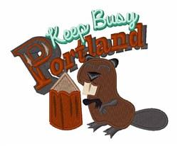 Keep Busy Portland embroidery design