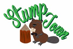 Stump Town embroidery design