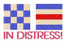 In Distress embroidery design