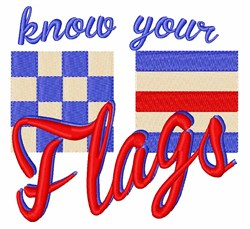 Know Your Flags embroidery design